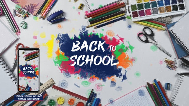 School Stop Motion: After Effects Templates