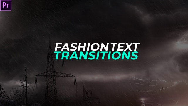 Fashion Text Transitions: Premiere Pro Presets