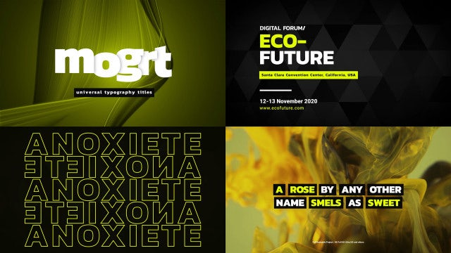 Typography Titles: Motion Graphics Templates