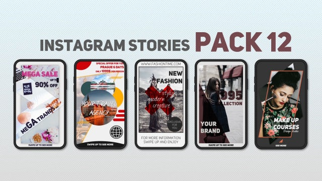 Instagram Stories Pack 12: After Effects Templates
