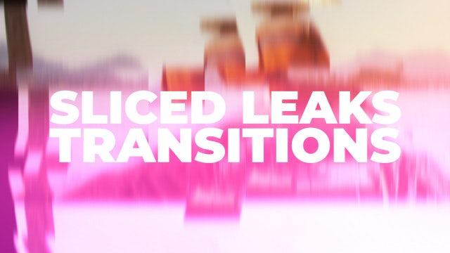 Sliced Leaks Transitions: Premiere Pro Presets