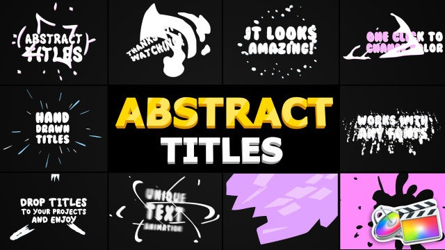 Abstract Cartoon Titles: Final Cut Pro Templates