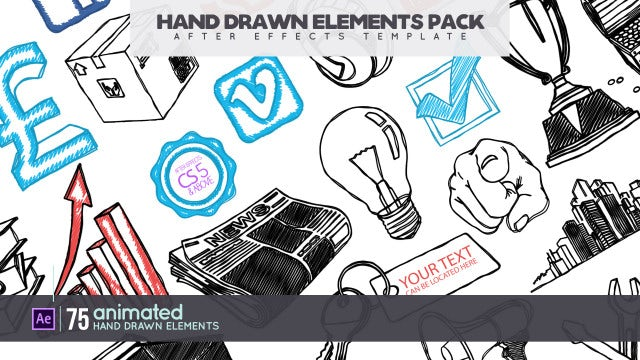 Hand Drawn Elements Pack: After Effects Templates