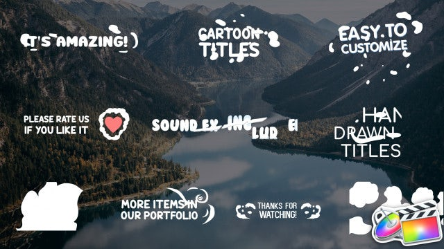 Cartoon 2D Titles: Final Cut Pro Templates