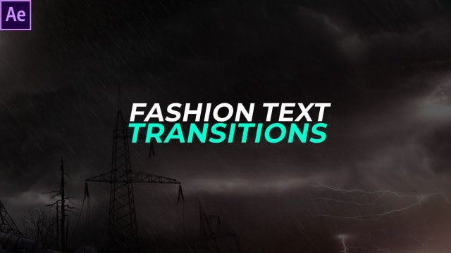 Fashion Text Transitions Presets: After Effects Presets