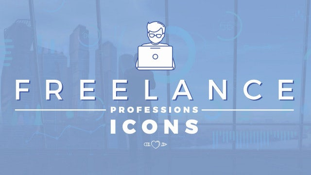 Freelance Professions Icons Pack: Stock Motion Graphics