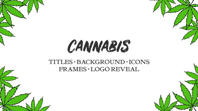 Cannabis. Hand Drawn Pack: Premiere Pro Templates