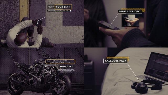 Clean Minimal Callouts: Premiere Pro Templates