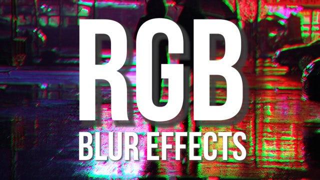 RGB Blur Shake Effects: Premiere Pro Presets