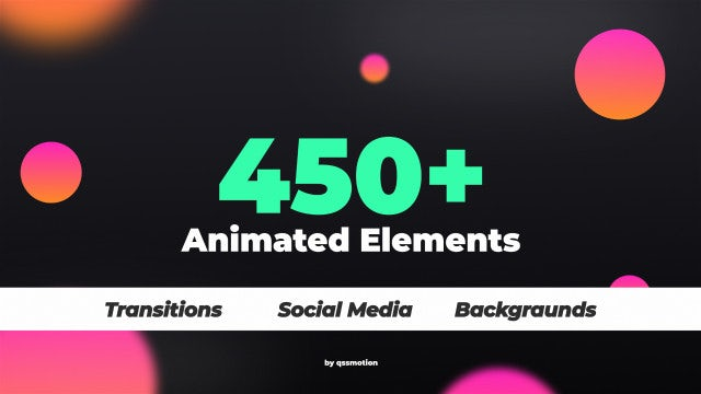 450+ Elements Kit: After Effects Templates