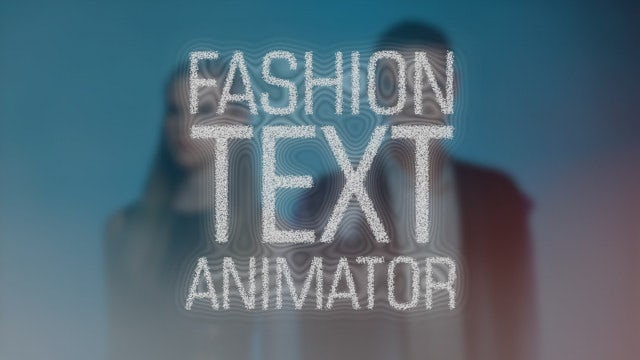 Fashion Text Animator: After Effects Presets