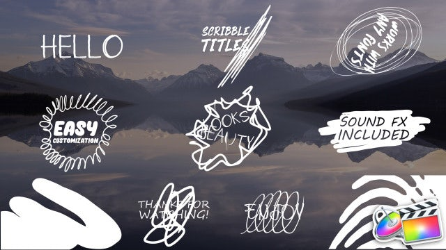 Cartoon Scribble Titles: Final Cut Pro Templates