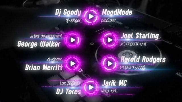 Music Lower Thirds: After Effects Templates