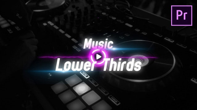 Music Lower Thirds: Motion Graphics Templates