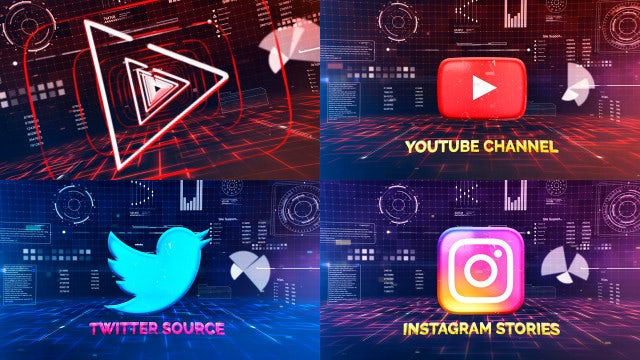 Technology Logo Outline: After Effects Templates