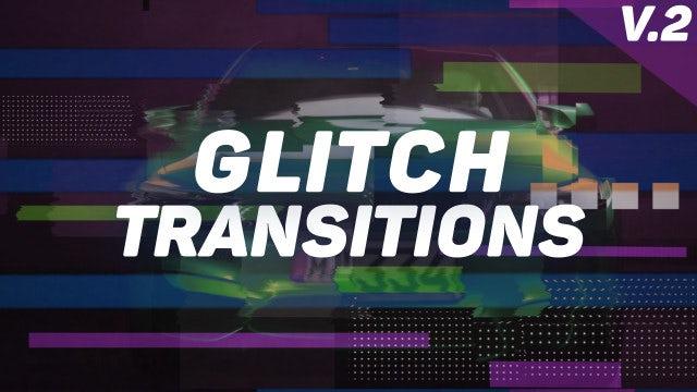 Glitch Transitions Presets V.2: Premiere Pro Presets