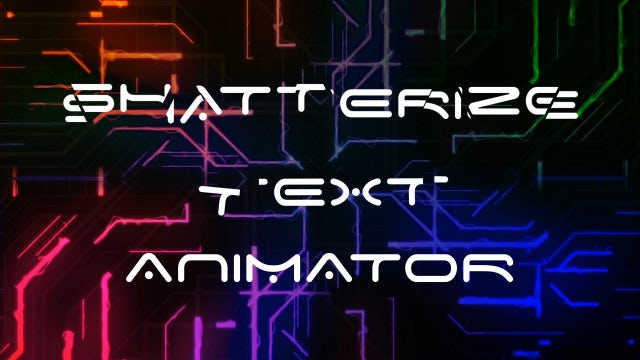 Shatterize Text Animator: After Effects Presets
