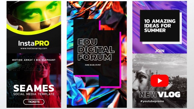 Stories & Posts IV: After Effects Templates