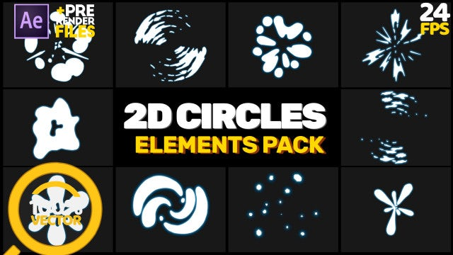 2D Circles Pack: After Effects Templates