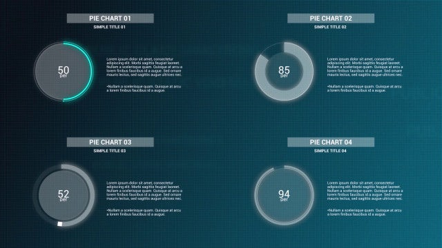 Infographics: Simple Pie Charts V2: After Effects Templates