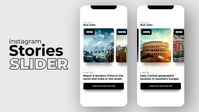 Instagram Stories Slider Shop: After Effects Templates
