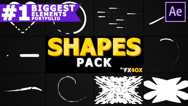 Cartoon Shapes Pack: After Effects Templates