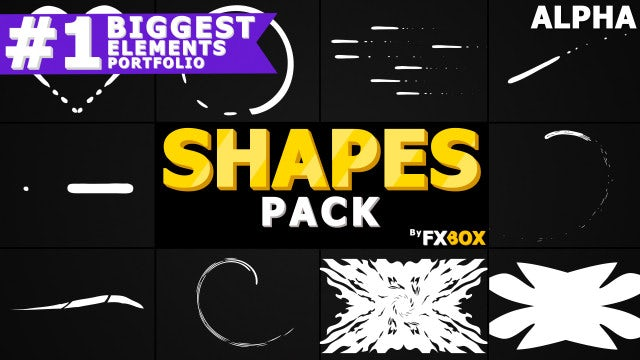 Cartoon Shapes Pack: Stock Motion Graphics