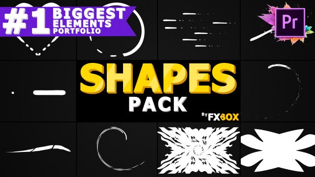 Cartoon Shapes Pack: Motion Graphics Templates