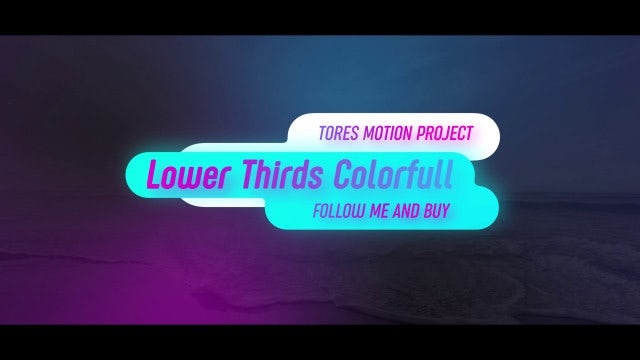 Lower Thirds Colorful: After Effects Templates