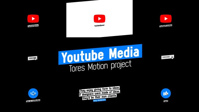YouTube Media Modern: After Effects Templates