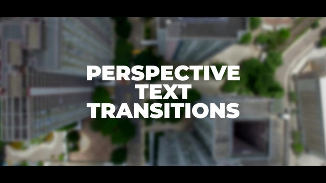 Perspective Text Transitions: Premiere Pro Presets
