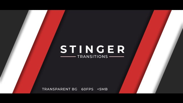 Stinger Transitions For Streamers: After Effects Templates