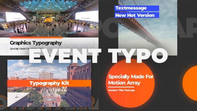 Event Typo / Mini Slides: Premiere Pro Templates
