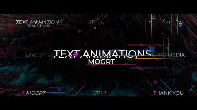 Text Animation Transitions: Motion Graphics Templates