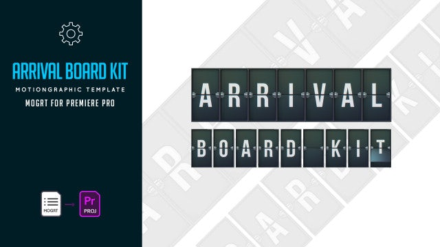 Arrival Board Kit: Motion Graphics Templates