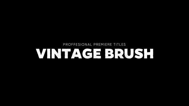 Titles Animator - Vintage Brush: Premiere Pro Templates