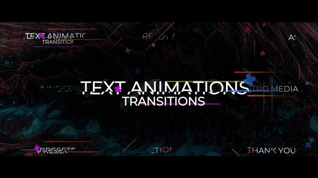 Text Animation Transitions: Premiere Pro Presets