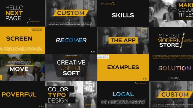 4k Creative Typography: Premiere Pro Templates