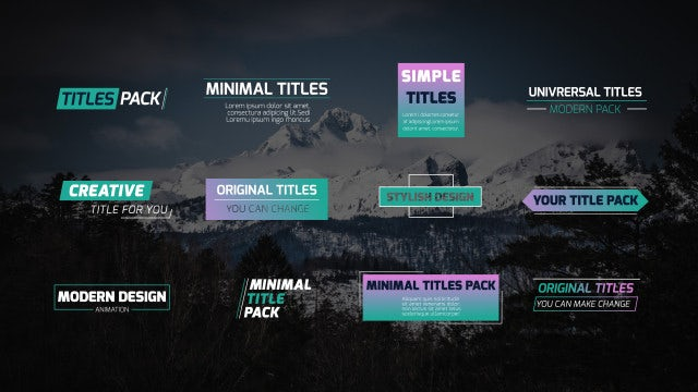 Modern Titles & Lower Thirds: Motion Graphics Templates