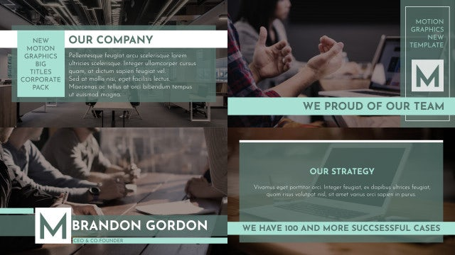 Corporate Big Titles And Lower Thirds: Motion Graphics Templates