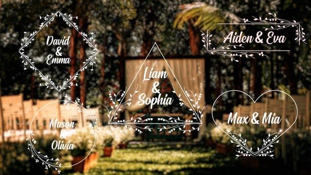 Romantic Titles: DaVinci Resolve Templates