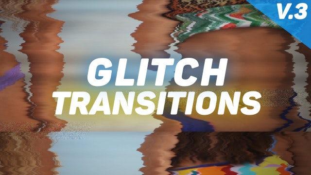 Glitch Transitions Presets V3: Premiere Pro Presets