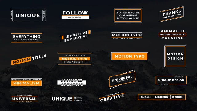 Motion Typo II: After Effects Templates