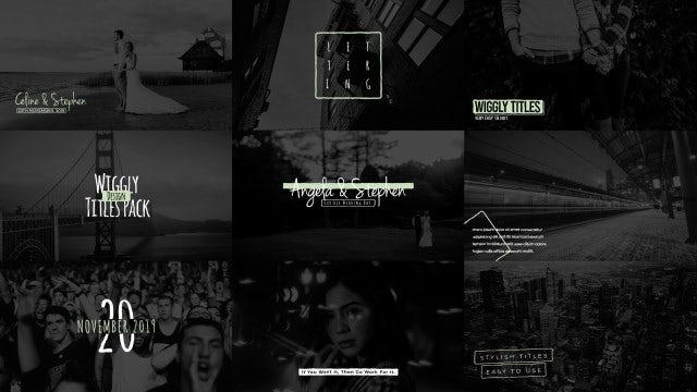 Wigglyl Titles Pack V10: Motion Graphics Templates