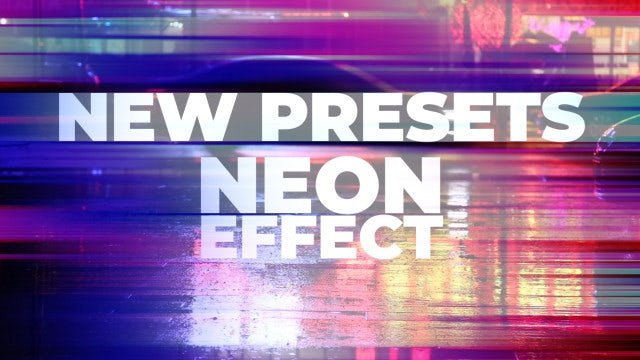 Neon Effect: Premiere Pro Presets