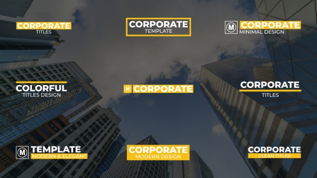 Big Corporate Titles: After Effects Templates