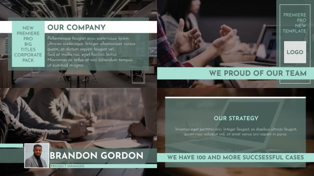 Corporate Big Titles And Lower Thirds: Premiere Pro Templates