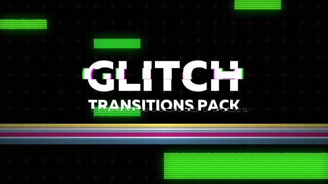 Glitch Transitions Pack - Premiere Pro Templates   Motion Array