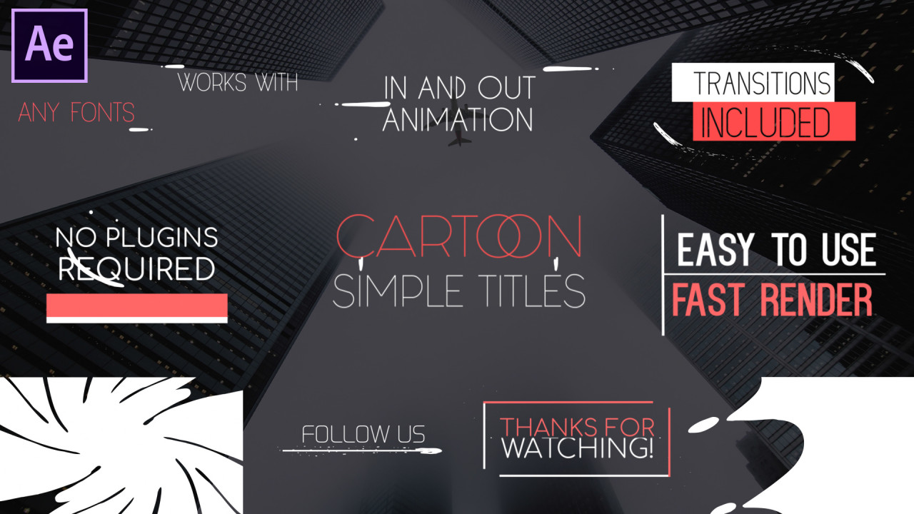 Cartoon Simple Titles - After Effects Templates | Motion Array