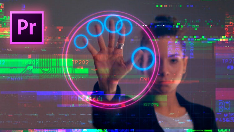 Cyberpunk Glitch Transition V2: Premiere Pro Templates